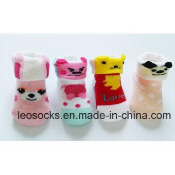 China Meias Fábrica de Algodão Fantasia e Adorável 3D Animal Bebê Projetar Criança Meias