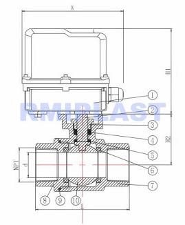 electric ball valve 2pcs
