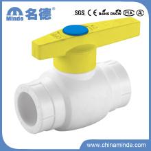 Válvula de bola de plástico PPR tipo a para materiales de construcción