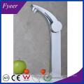 Fyeer High Arc Single Handle&Hole Chrome Bathroom Sink Wash Basin Faucet Water Mixer Tap
