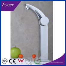 Fyeer High Arc Single Handle & Hole Chrome Lavabo del baño Lavabo grifo Mezclador de agua Grifo