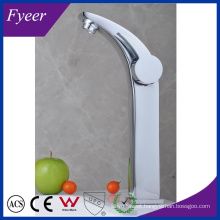 Fyeer High Arc Single Handle&Hole Chrome Bathroom Sink Wash Basin Faucet Water Mixer Tap