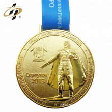 2018 benutzerdefinierte Größe billige Zinklegierung Metall Sport Gold Medaillen mit Schlüsselband