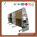Wooden and Steel Display Stand with Slat Wall