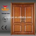 Luxury design white finish solid double wooden door
