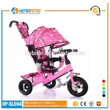 Reverse Pedal Tricycle frame Kids Double Seat Tricycle