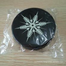 Plain Black 6 Ounces Silicone Ice Hockey