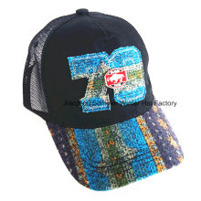 Построенная совместная вышивка щеткой из хлопчатобумажной ткани Twill Baseball Cap
