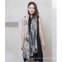100% Polyester bedruckter Schal