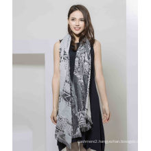 100%Polyester Printed Scarf