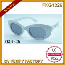 Shine cinzento simples óculos de sol (FK15027)