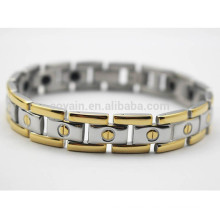 Made in China Scalar Energie Ionen Edelstahl zwei Tone Chain Link Armband