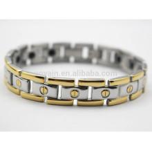 Made in China Ion d'énergie scalaire en acier inoxydable Bracelet à chaîne à deux tons