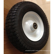 Natural Rubber Air Wheel with White Rim 350-4