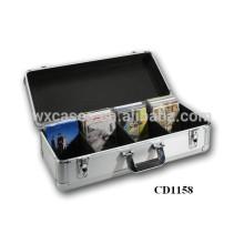 boîte de rangement haute qualité CD 80 disques (10mm) aluminium CD DVD vend en gros