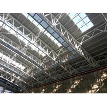 Al-Mg-Mn Panel Tejado Estructura de acero Truss para gimnasio