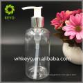300ml Boston Round Shampoo PET bottle 300ml transparent Body Lotion bottle