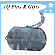 High Quality Metal Dog Tag with Ball Chain