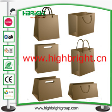 Kraftpapier Shopping Portable Bag mit Griff für Supermarkt
