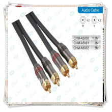 Gold Plated 2rca male to male component video and stereo audio cable