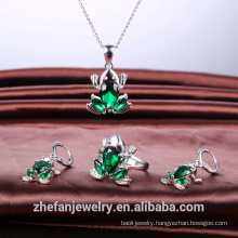 new arrivals 2018 cute animal jewelry set fashion accessories ring pendant earring