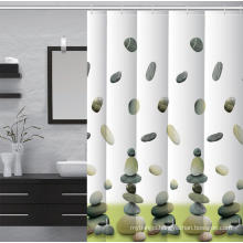 Waterproof Bathroom printed Shower Curtain Fabric