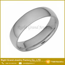 Mode hochglanzpoliertem Edelstahl Silber Band Ring für Unisex