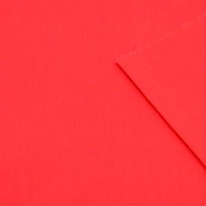 Polyester Cotton Red Fabric