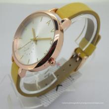 Ame relógios de ouro luxuosos das senhoras ocasionais do vintage para mulheres