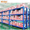 medium duty boltless steel storage long wide shelf