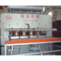 Hot press for laminating flooring