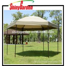 2 x 2m extérieure Mordern Steel Pole Hexagonal Gazebo Tente