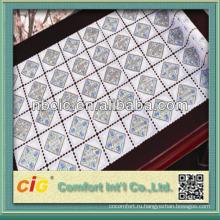 Demboss дизайн ПВХ длинные таблицы ткани кружево