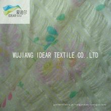 Tecido Seersucker estampado 100% algodão para vestuário