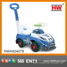 New Design Blue Color Baby Walking Car With Push Handle With Light & Music