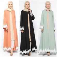 Vente chaude robes Maxi premium coton femmes robes musulman 2017 abaya