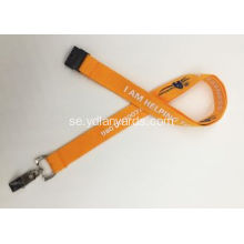 Custom Silk Screen Metal Hook Polyester Lanyards