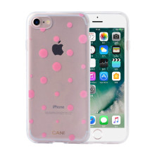 Transparente IMD TPU Pink Dots iPhone6 ​​Case