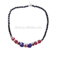 Fashion Boho Bling Bling Colorful Chunky Crystal Beaded Necklace
