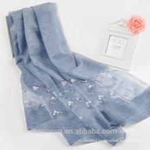 good quality fashion women custom digital silk scarf printing floral 8% silk 20% nylon 72% acrylic scarf printing