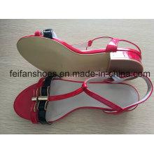 Chaussures de haut talon de 2-3cm avec des couleurs de beauté, sandales d'été extérieures femelles