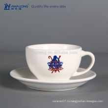 Дешевая керамическая чашка кофе изготовленная на заказ косточка фарфора чашка чашка фарфора чай чашка и сосиски ваш собственный логос
