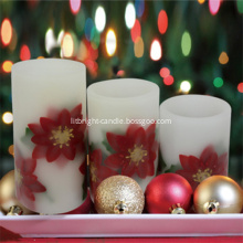 Led candles with real flame