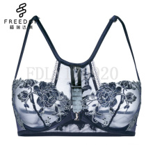 OEM desi woman sexy photo sexy bra and panty new design lace high quality soft Balconette Bra