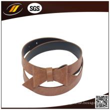Newest Butterfly Knot Split Cowhide Leather Belt (HJ3737)