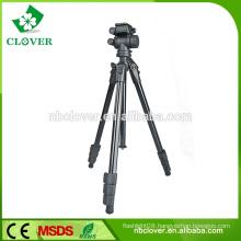 Professional colourful camera and lightweight tripod monopod