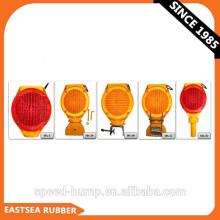 Luz de advertência vermelha ou amarela da barricada do tráfego do diodo emissor de luz da bateria do co-polímero 6V