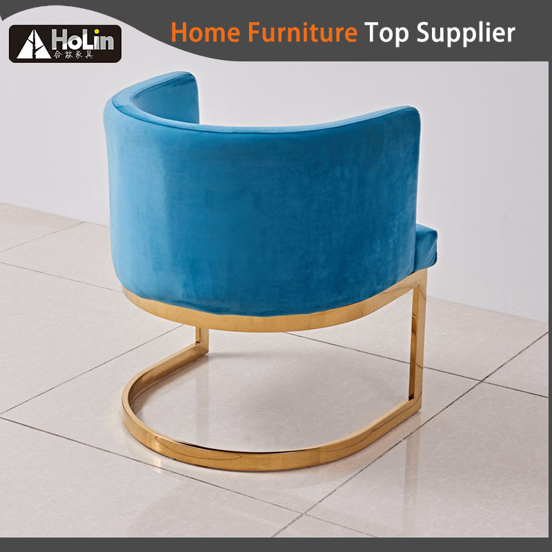 Luxury Modern Stainless Steel Hotel Bar Chair