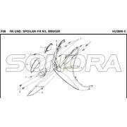 F06 FR UND. SPOILER-FR R / L WINKER für HU05W-C MIO 50 Ersatzteil Top Qualität