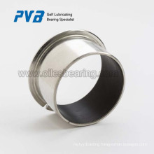 Flange bushing Structure and Steel+Sintered Bronze+PTFE,Customized Material DP4 Bush